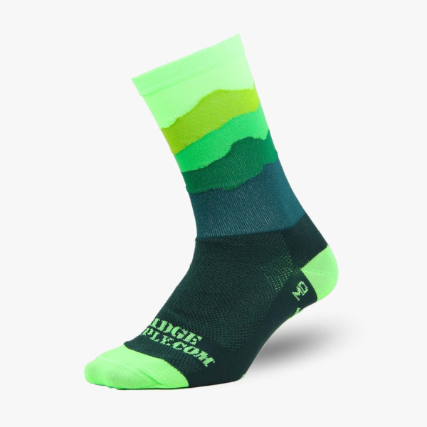 Chaussettes Ridge Supply The Skyline All Green
